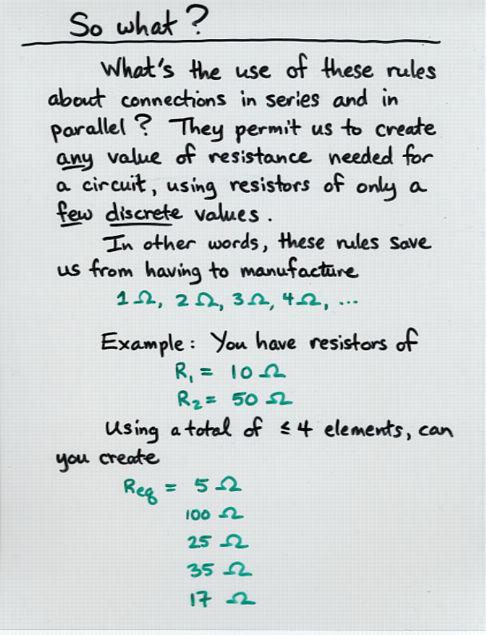 resistors in series and in parallel