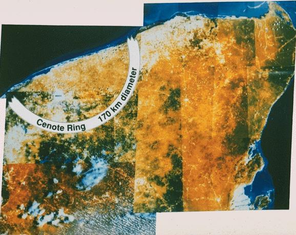 Satellite Yucatan Mexico Asteroid Impact - Pics about space