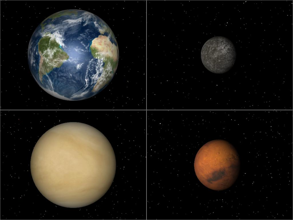 terrestrial bodies in the solar system