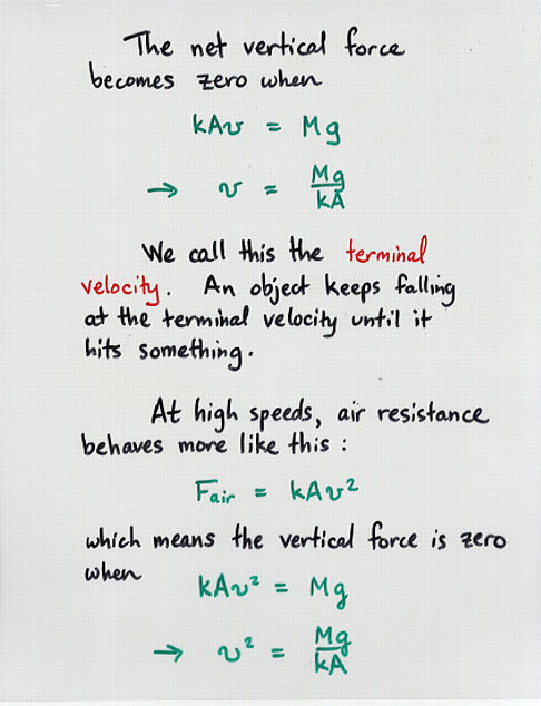 More On Friction And Terminal Velocity