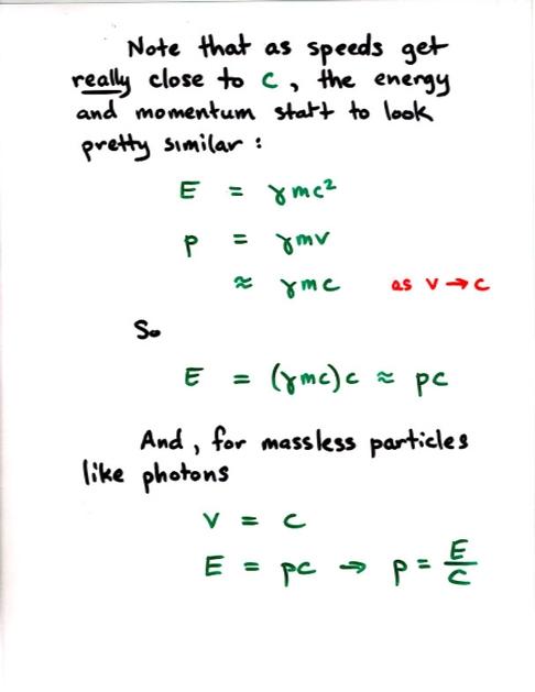 Relativity Momentum And Kinetic Energy
