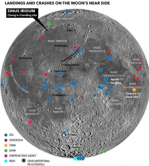 location moon map landing site apollo 12 - photo #30